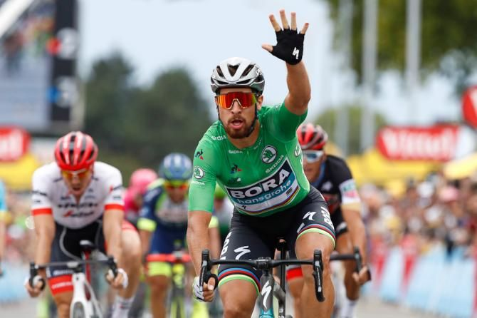Tour de France: Peter Sagan wins stage 13 bunch sprint in Valence  World champion surges past Kristoff and Demare #TDF2018   https://t.co/aW86nqsbnx