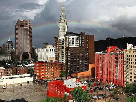 Happy Saturday, Cleveland. Isn't this rainbow photo gorgeous?! 🌈  Photo: j__more on Instagram