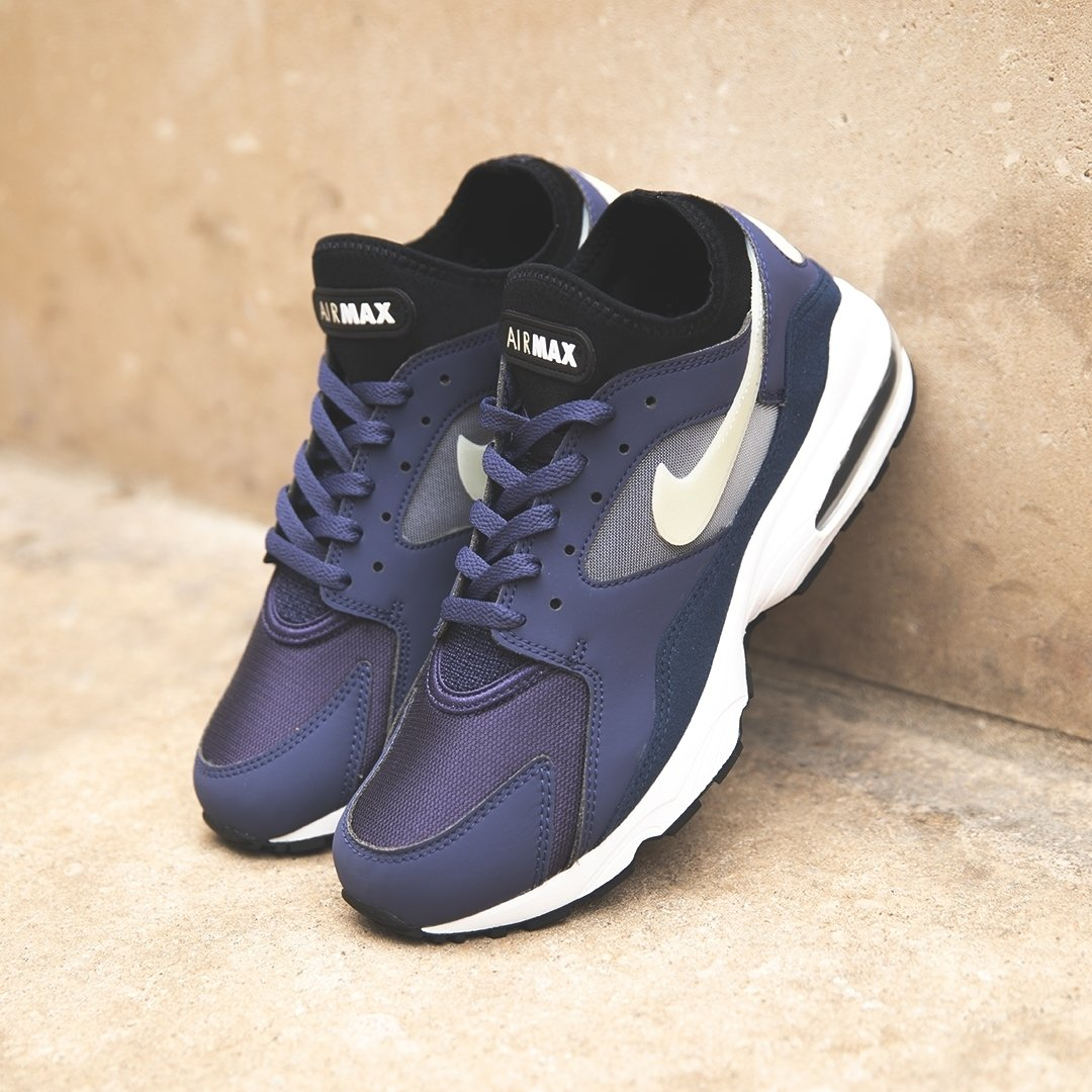 8d6ff062e0 Nike Air Max 93 'Neutral Indigo/Obsidian' | Now available online Sizes  range from UK6 - UK12 (including half sizes), priced at £110. Shop Now: ...