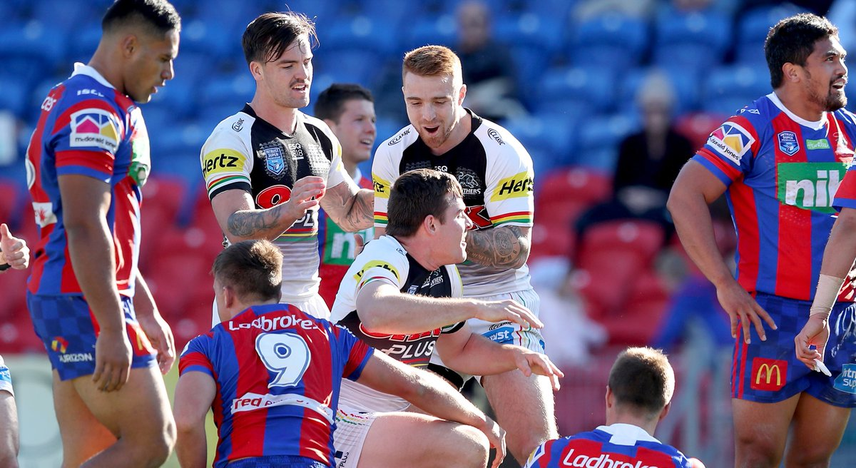 KNIGHTS NAILED  A Billy Burns hat-trick inspires victory for the ISP Panthers over Newcastle.    http:// bit.ly/ISPReportRnd19  &nbsp;    #IntrustSuperPremiership #pantherpride <br>http://pic.twitter.com/BQI7Sprv1r