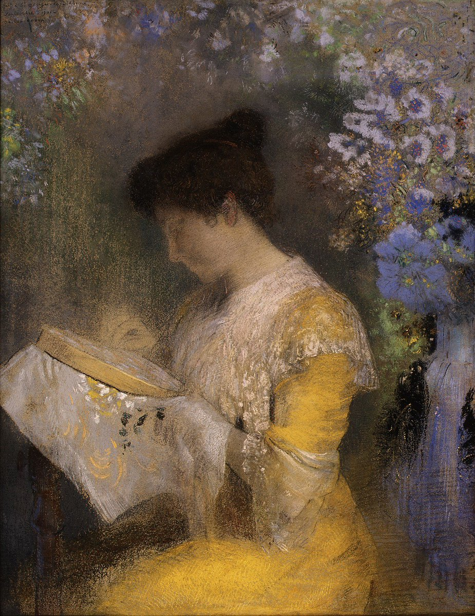 Odilon Redon executed this portrait, one of his finest and most finished pastels, when Marie Escudier Fontaine and her husband visited him at the seaside resort of Saint-Georges-de-Didonne. https://t.co/mhy0J3Rmck
