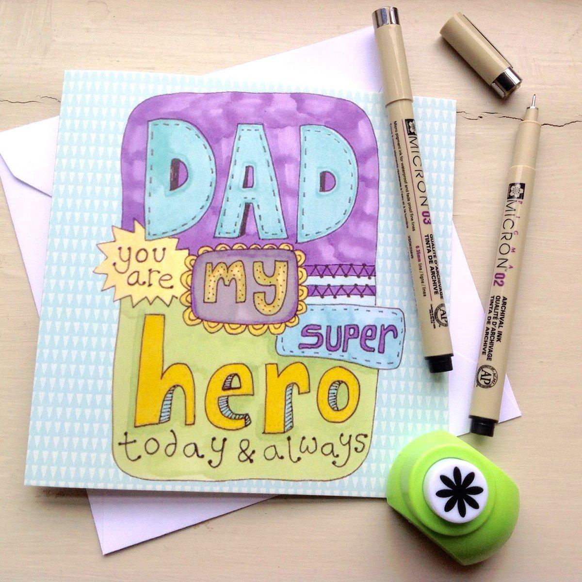 Slumbermonkey Design On Twitter Fathers Day Card Hand Drawn