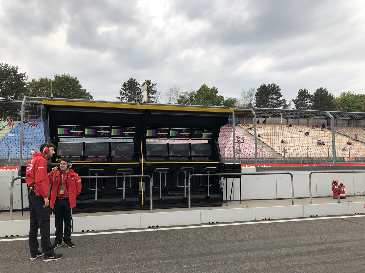 Morning everyone... from a grey, cloudy and yes, slightly wet, Hockenheim!   #RSspirit #GermanGP