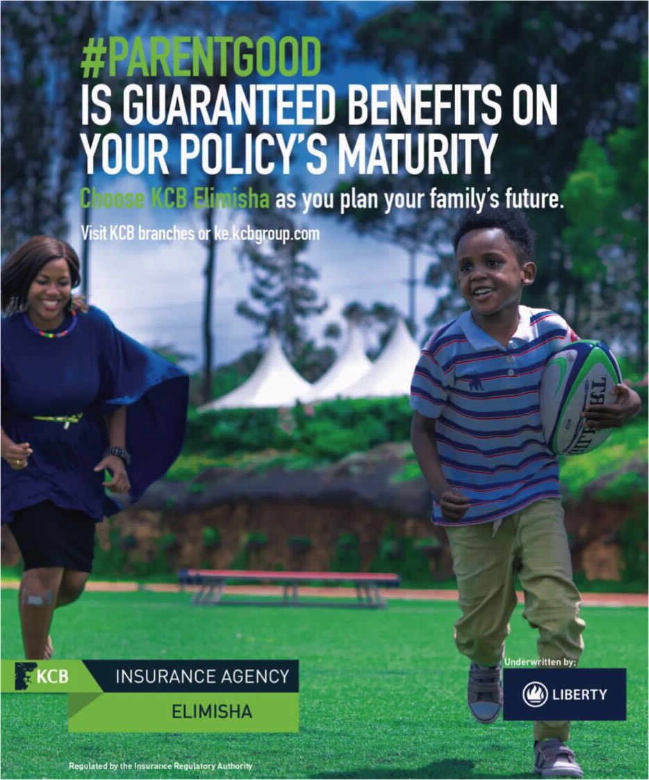 KCB Elimisha is an education and life insurance plan for your family's future. Get a policy that works for you and your children because knowing you have a plan for his future is #PARENTGOOD. @KCBGroup.