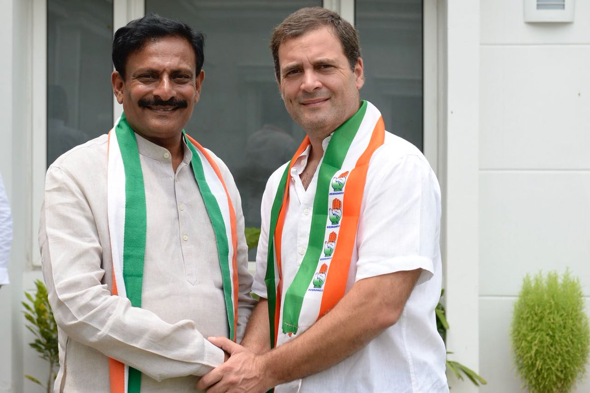 Congress President @RahulGandhi welcomes Shri Byreddy Rajasekhar Reddy into the Congress family today.
