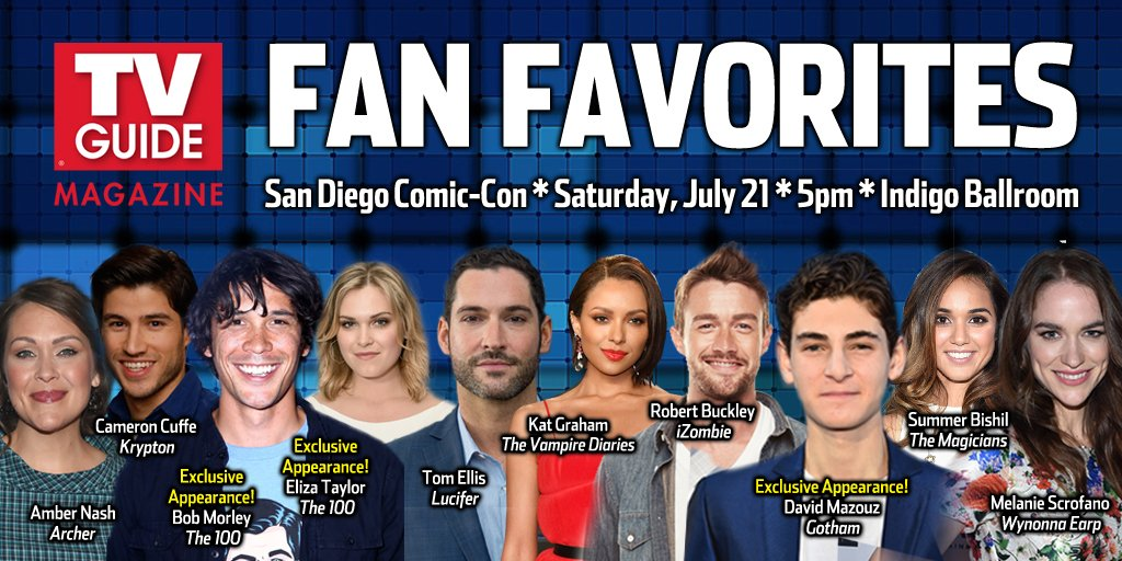 The @tvinsider  Fan F@Comic_Conavorites Panel is happening today! Join stars from , , , #Lucifer, #The100, #WynonnaEarp, #Krypton, #TheMagicians &#Gotham  #iZombieal#TMNTong wit#Archerh  for a pan@damianholbrookel you won't want to miss. https://t.co/mgohuvQzGL