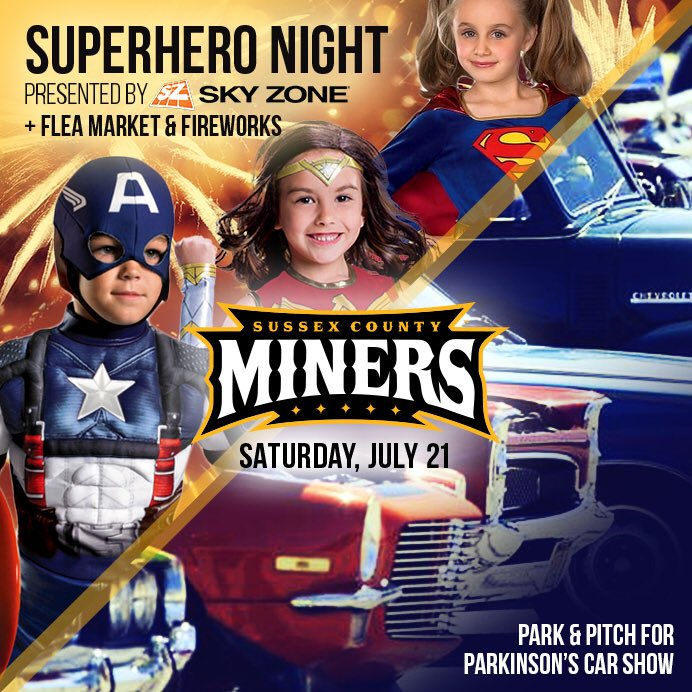 Sussex County Miners On Twitter Join Us Today For SuperheroNight - Usa flea market car show