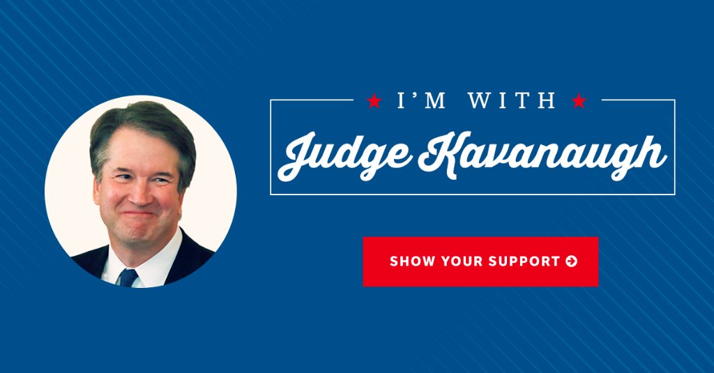 .@realDonaldTrump has nominated an incredibly talented jurist to the Supreme Court. Tell Senate Democrats to confirm Judge Kavanaugh. ➡️https://t.co/fkySKbGzjn