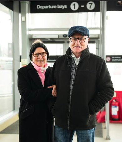"""For this #SaturdayStories, we heard from Patricia and Brian, who were off to the cinema """"We often go to the theatre, too. The coach allows us to use our Senior Coachcards for a great discount.' 🚌 What are your Saturday plans? 😎"""