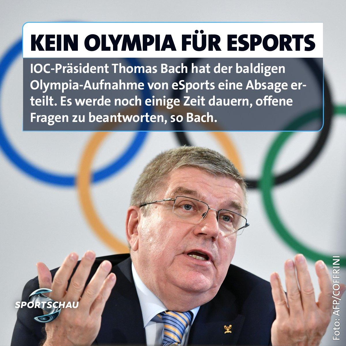 So schnell wird man eSports wohl doch nicht bei den Olympischen Spielen sehen. Meinungen? #IOC #eSports #bach