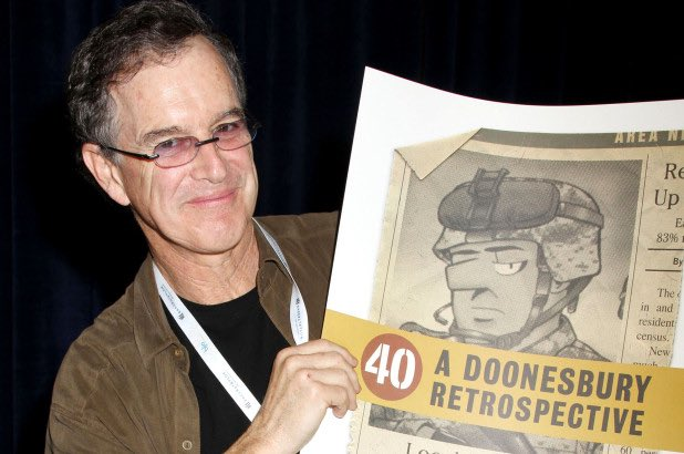 "Today in Comics History: Happy 70th birthday to \""Doonesbury\"" creator Garry Trudeau, born on July 21, 1948."