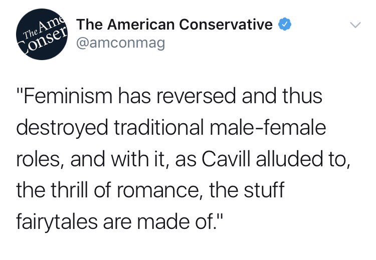 Indeed, feminism is destroying fairytales in the sense that women no longer dream of being raped while in a coma or held hostage by a literal beast