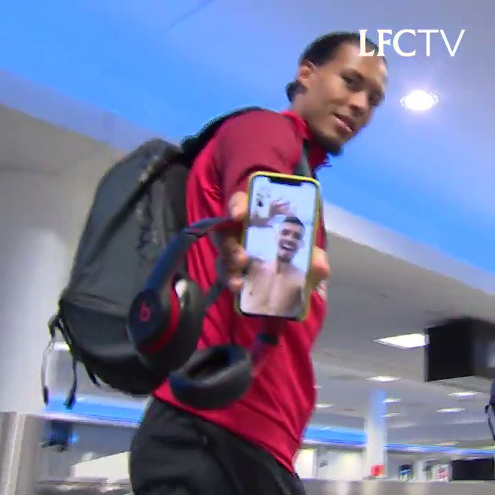 Hello Dejan! 👋👋 He might not be stateside...but Lovren is still with the Reds! 🙌 FaceTime with @VirgilvDijk and @MoSalah...