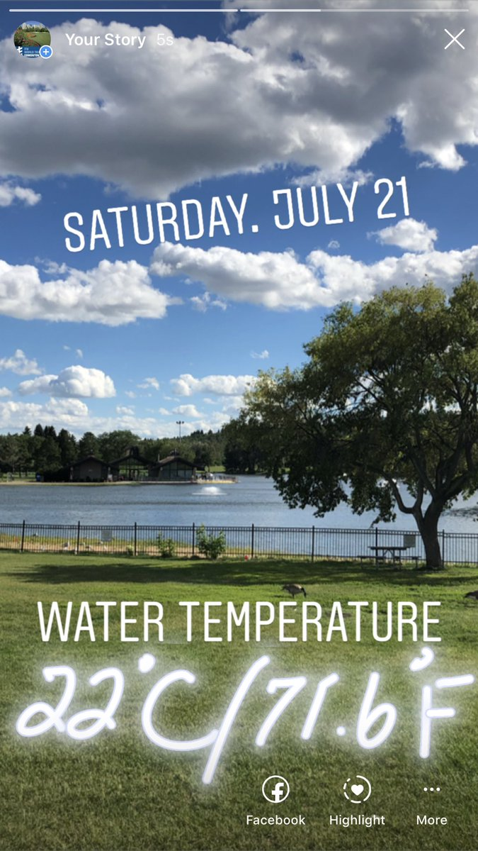 WTS Edmonton On Twitter Starting Measuring Water Temperature Today 22 Degrees Celsius 716 Fahrenheit