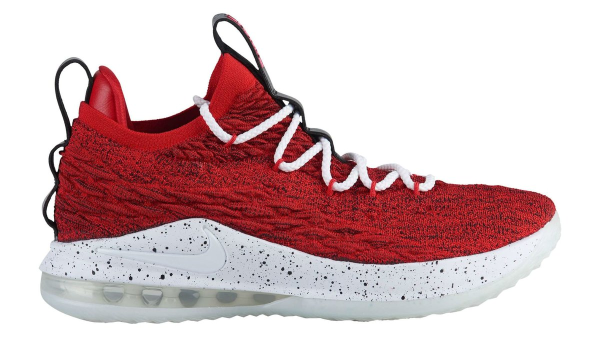 The Nike LeBron 15 Low is releasing in University Red. trib.al/IBq69Vg