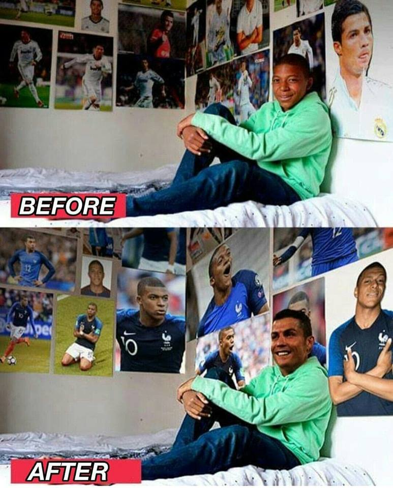 Before and after the World Cup 😂😂