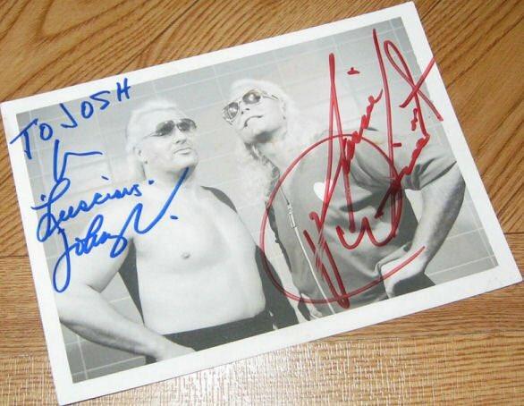 The former #WWWF tag team champions! #johnnyvaliant #jimmyvaliant #thevaliantbrothers #autograph #wwehof #tagteam wrestlingmemorabilia.blogspot.com