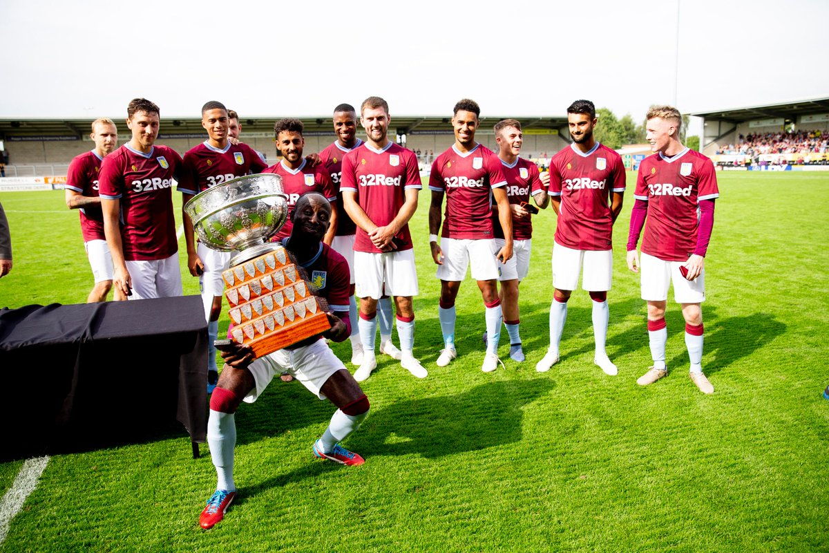 And that win makes us the winners of The Bass Vase trophy (just about 😂) #AVFC