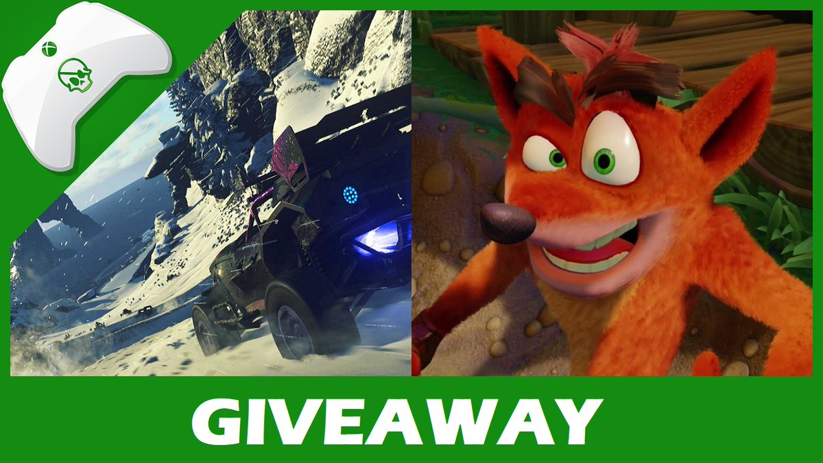 Giveaway! Follow and RT for a chance to WIN the Crash Bandicoot N. Sane Trilogy and ONRUSH. Winner chosen Saturday, July 28th, at 6:30pm BST.