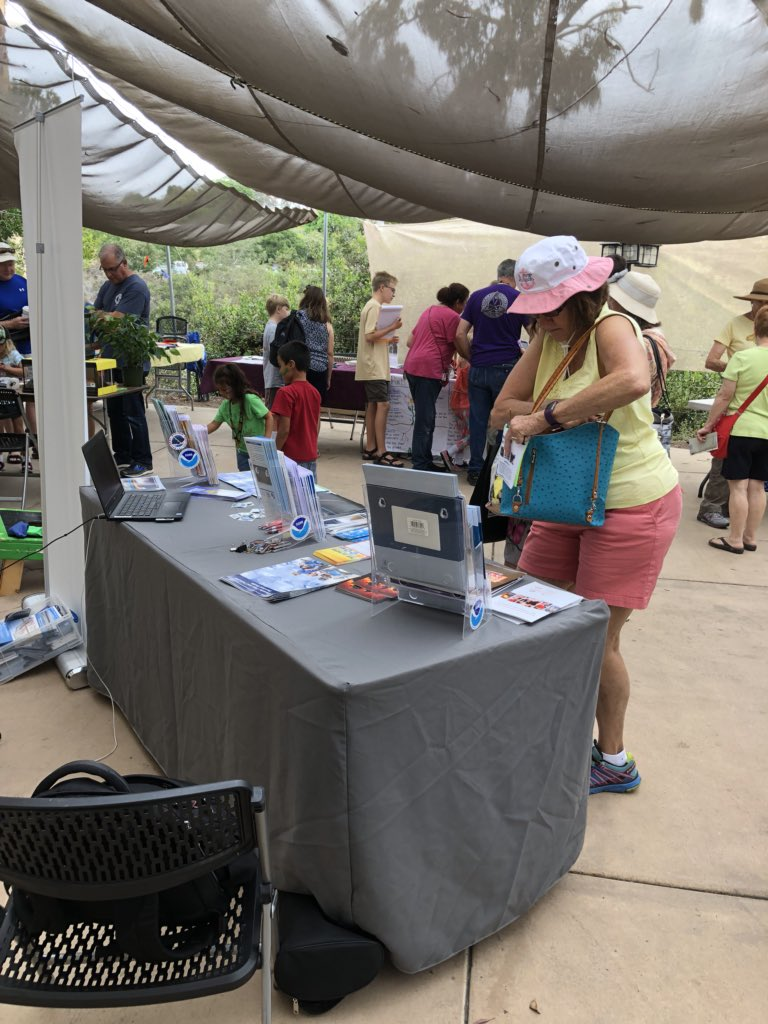 National Weather Service is at the San Diego botanical gardens in Encinitas at the 2018 insect festival #cawx