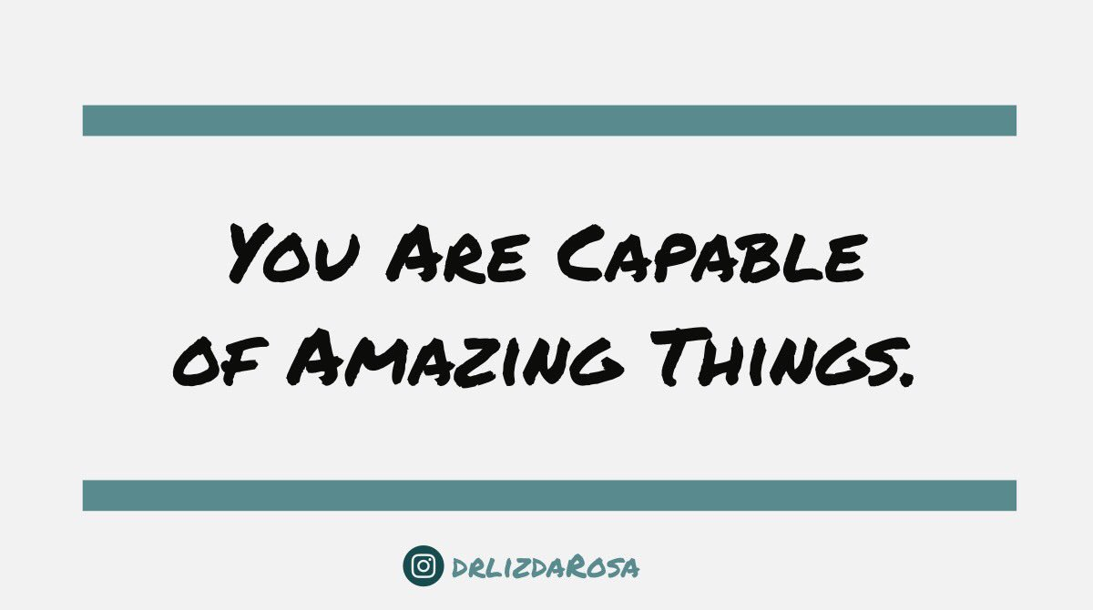 Remember this: U are capable of amazing things! ???? #Inspiration #ThinkBIGSundayWithMarsha https://t.co/dE0fKP1lEq