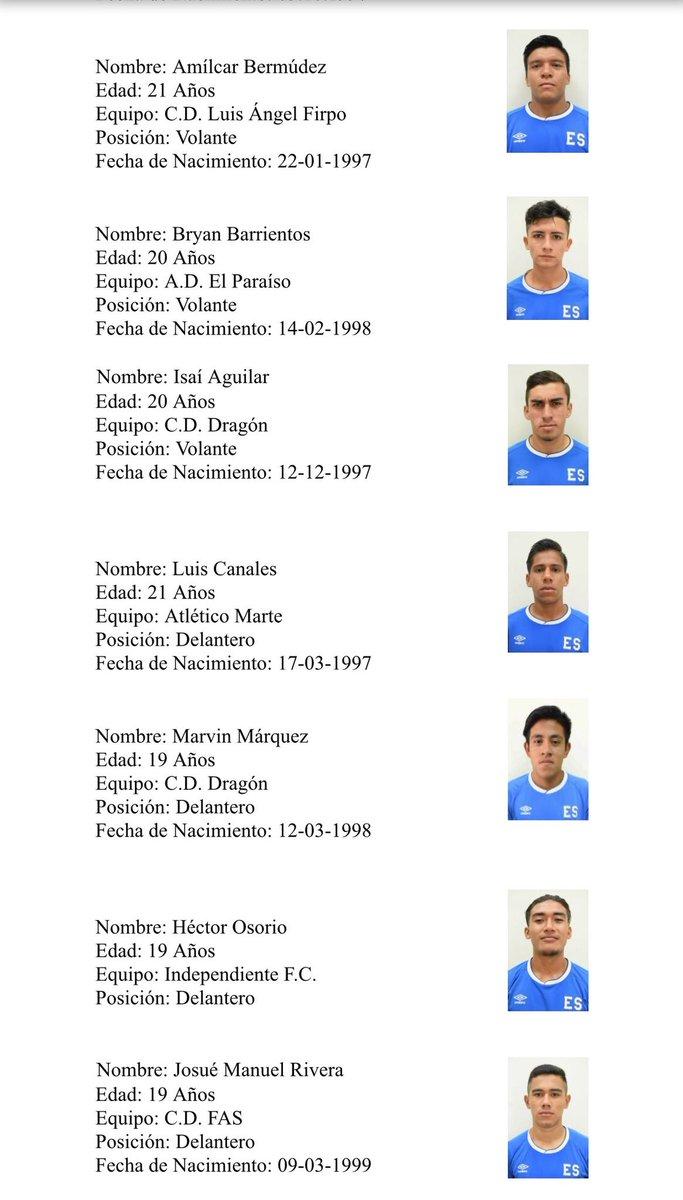 Sub-21: Preparacion a Los juegos deportivos centroamericanos y del caribe 2018. DipbNjhV4AA95Fc