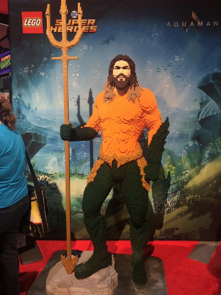 Checking out the @LEGO_Group booth here at #SDCC! Great stuff on display over there (make sure and check out their Aquaman in his classic suit! @aquamanmovie #Lego @nerdist  #thanos