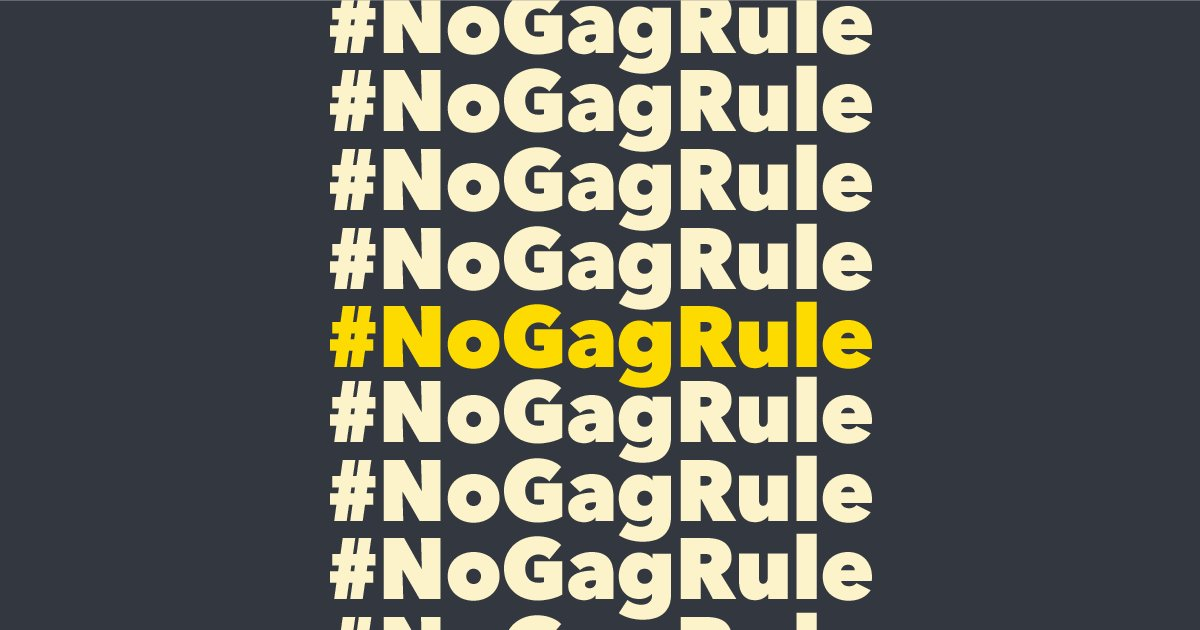 The medical community & health care providers are clear: . If#NoGagRule you are a provider and oppose this dangerous rule that undermines the patient-provider relationship, stand w/ patients & sign the provider pledge against the unethical Trump gag rule: https://t.co/1r95YOirGY
