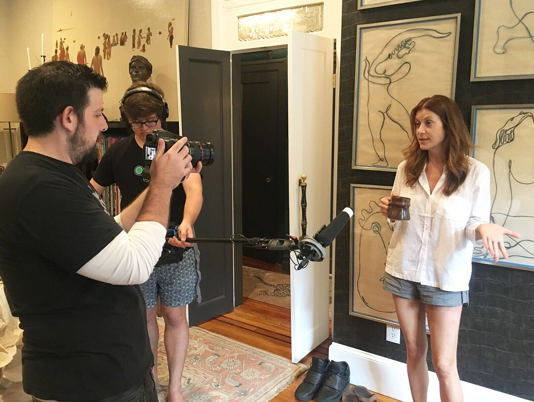 """Had the pleasure of shooting with the immensely talented @katewalsh today for """"@anyamarina: #IndiePendentWoman!"""" Thanks for sharing your time with us, Kate! You were hilarious! 🎬 More info on the series release soon!"""