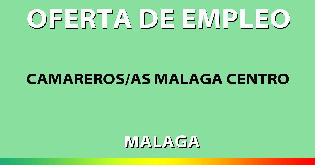 Sistema Empleo On Twitter Oferta De Empleo De Camarerosas Málaga