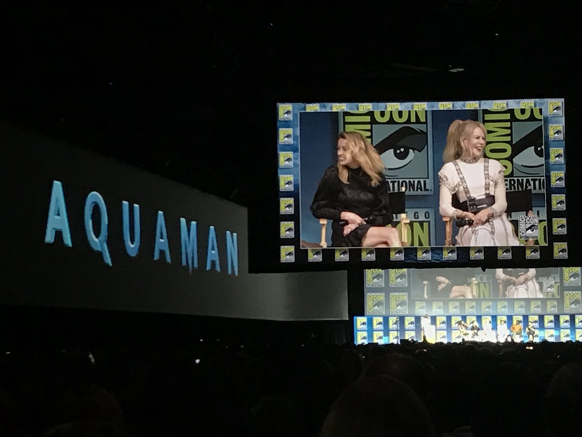 It's #NicoleKidman's FIRST #ComicCon! So excited to see her in #Aquaman! #DCEU #SDCC #JusticeLeague