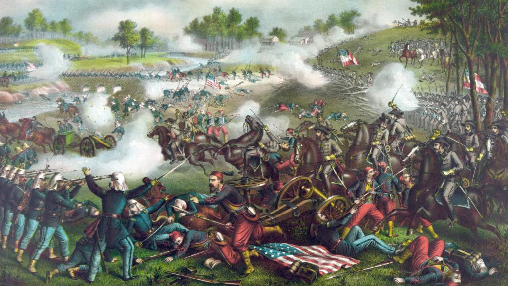 On #ThisDayinHistory 1861, The First Battle of Bull Run, the first major land battle of the #CivilWar, takes place. https://t.co/bvk350NXIb