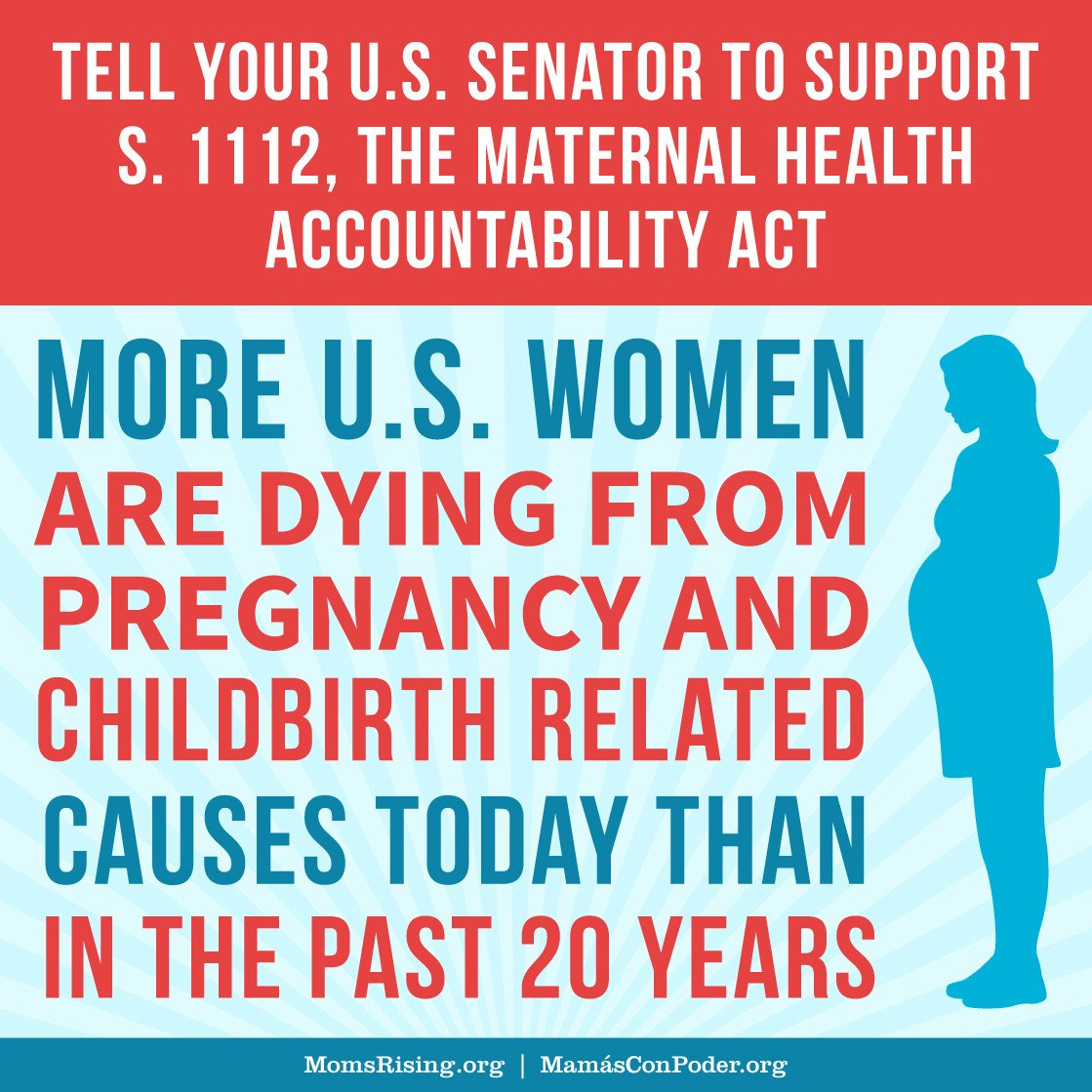 When we raise our voices, legislators listen! Which is why we need YOU to let Congress know that maternal health matters by signing our letter supporting #S1112 &  add#HR1318ressing our nation's rising maternal death rates. Sign now!  https://t.co/MPDKlpFdb7#MaternalJustice
