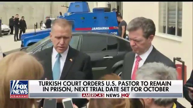 Turkish court orders U.S. pastor to remain in prison, next trial date set for October. https://t.co/UAUXtsh8Ci