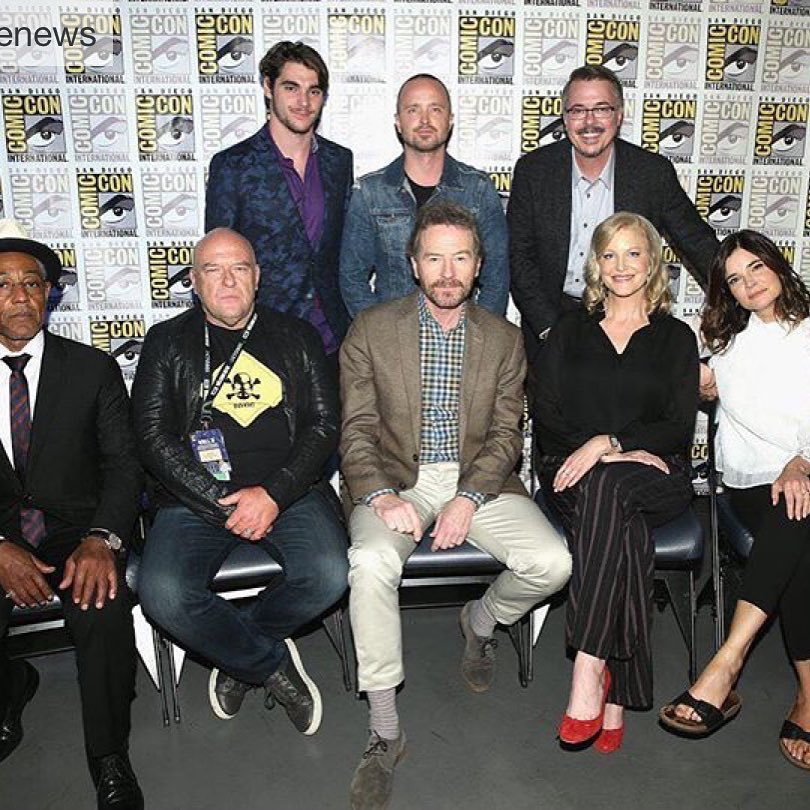 It was great hanging out with the gang this week @betsy_brandt @BryanCranston @deanjnorris @aaronpaul_8 #annagunn @mrbobodenkirk @quiethandfilms #vincegilligan @BreakingBad_AMC @Sony