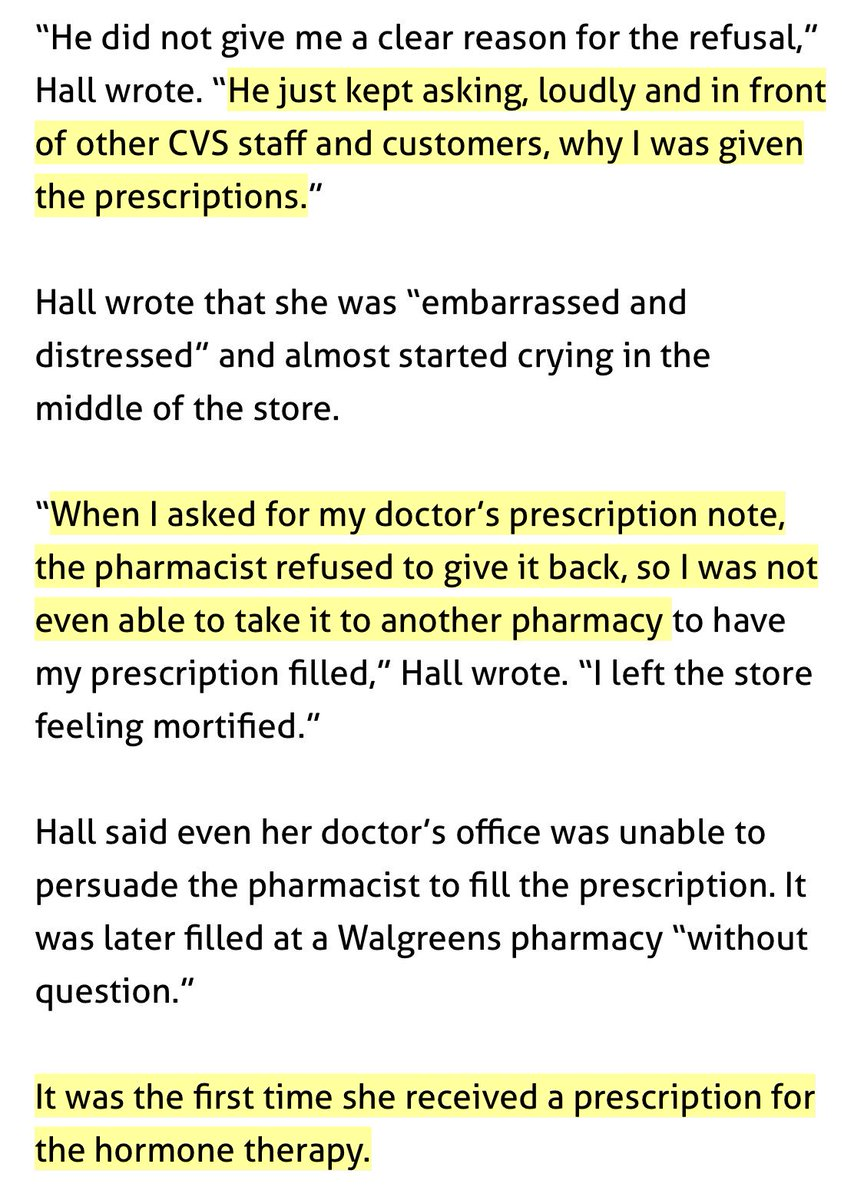 2 Refuses To Give Her The Prescription Back So She Could Take It A Different Pharmacy 3 Its Extra Horrible That This Happened On First
