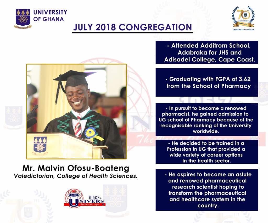 Congratulations Mr. Malvin Ofosu-Boateng. We are proud of you.