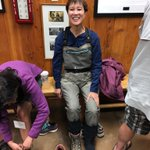 Image for the Tweet beginning: Suiting up in waders for