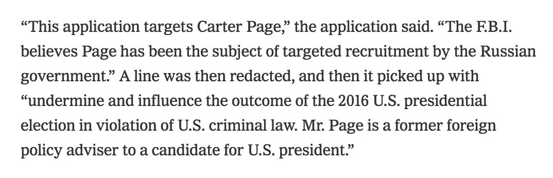 The FBI's October 2016 FISC application re: Carter Page https://t.co/2wSv1wDsTN