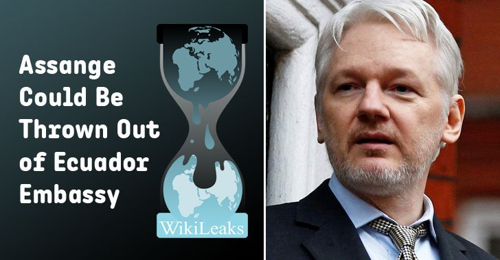 ⚡President of Ecuador is going to withdraw asylum for #Wikileaks founder Julian Assange – multiple sources claimed.  https://t.co/hTqcEaiiEj  Assange could be thrown out of Ecuador's London embassy 'in coming weeks or days' and turned over to U.K. authorities.