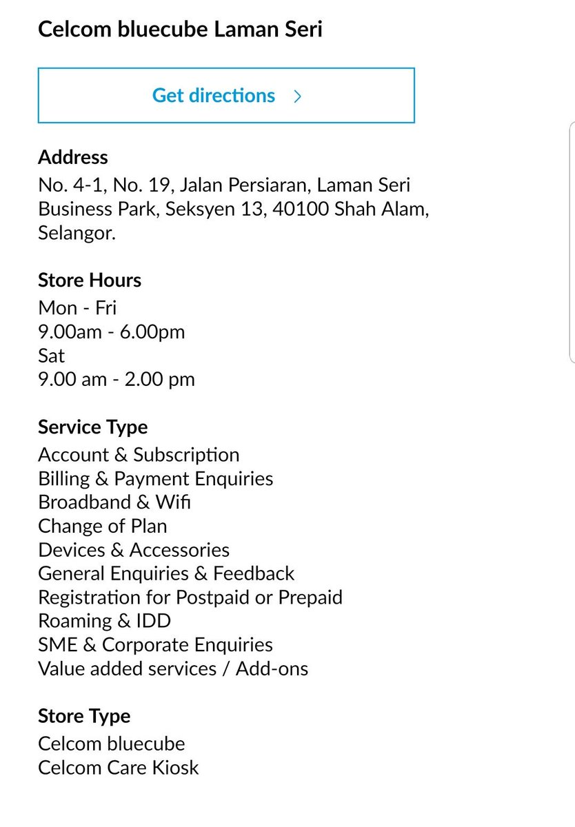 Fatein Afiqah On Twitter Dear All New Operation Hour Ss From Celcom Website