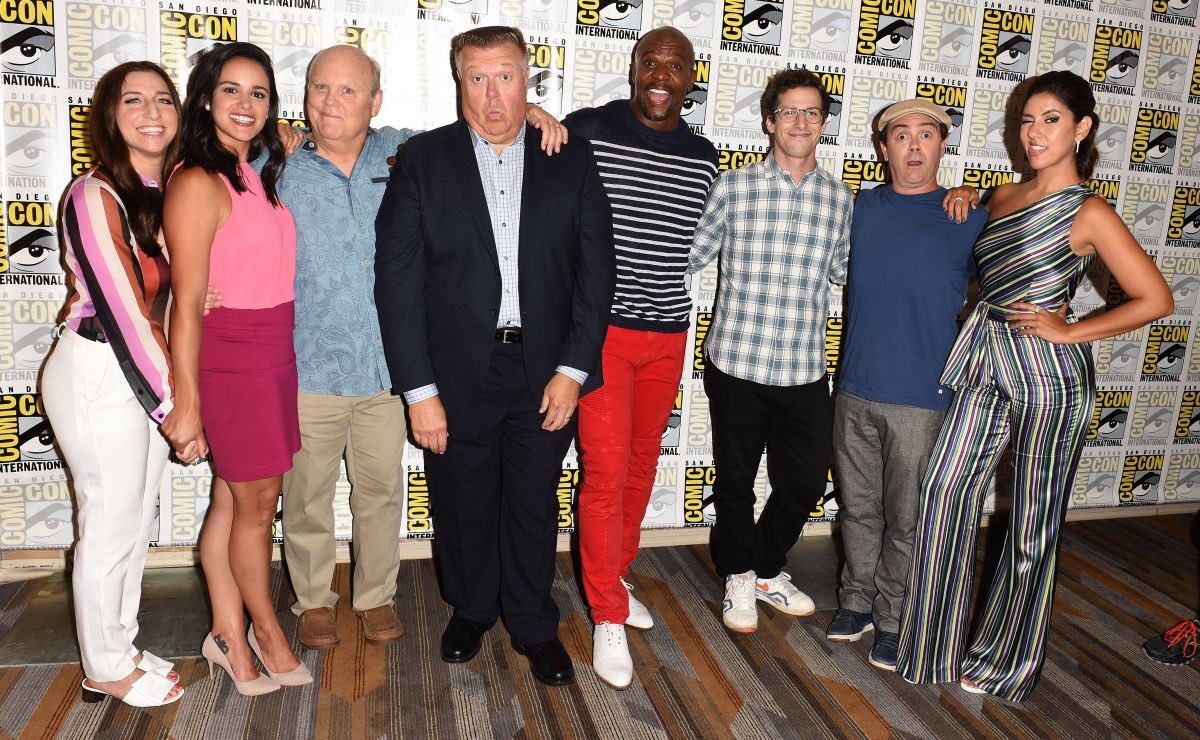 PHOTOS | The cast of #brooklyn99 at San Diego Comic Con yesterday