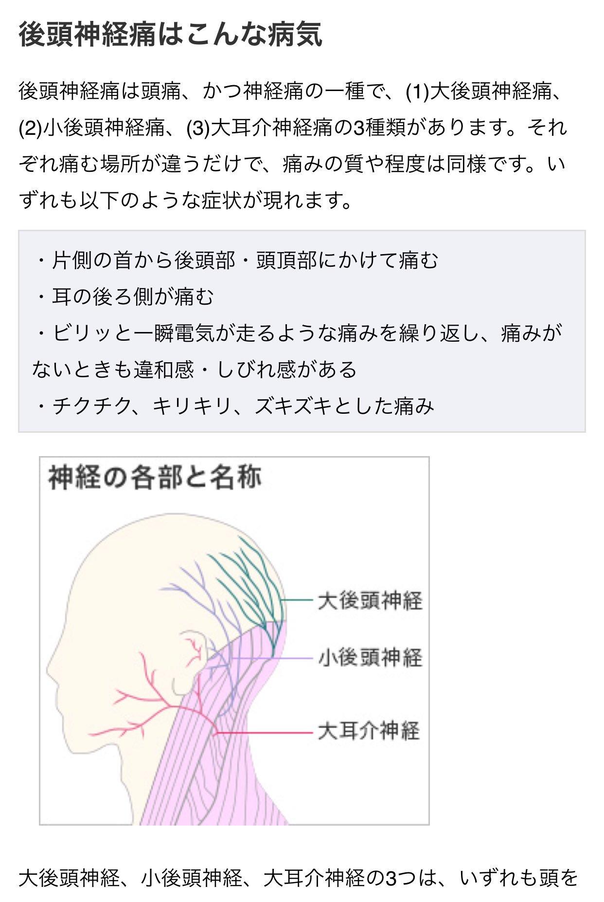 が 痛い から 後頭部 首筋