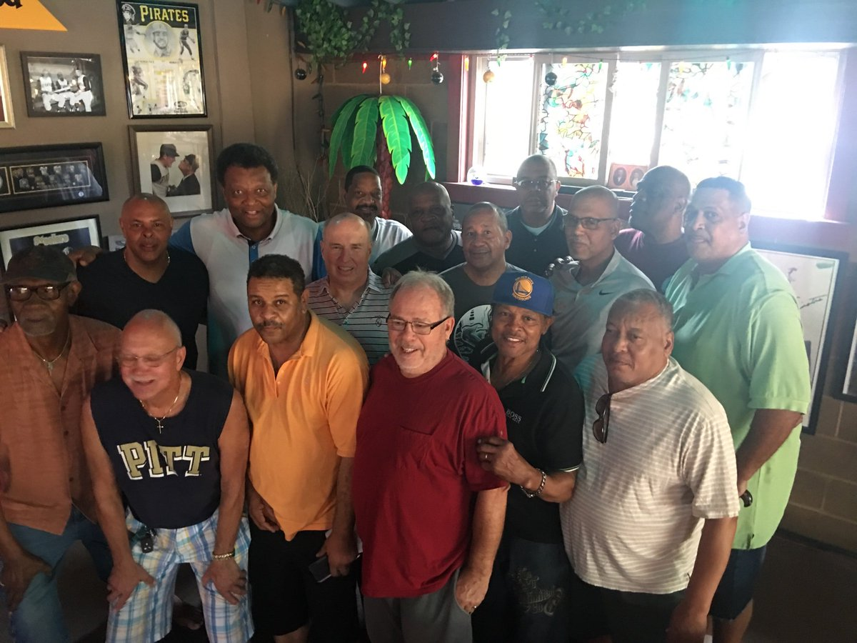 A great group of friends together today honoring Billy Knight Day in Braddock. Over 60 attended the luncheon.   In this picture. 9 NCAA Division 1 players  13 total college players 10 Dapper Dan Roundball Classic Alumni  2 players from the 1973 GBA State Championship Team. <br>http://pic.twitter.com/4k10m1easU