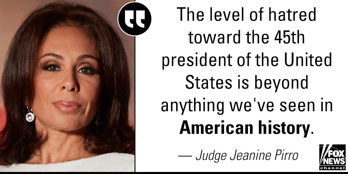 "On ""Justice,"" @JudgeJeanine said that ""we can't have conversations anymore"" in today's political landscape. https://t.co/TM0vVwNpEh"