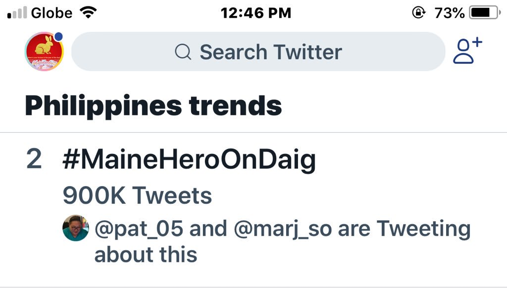 Uy nine hundred k na. Malapit na akong makaligo, hahaha @mainedcm   #MaineHeroOnDaig https://t.co/rfmvgDuBfw
