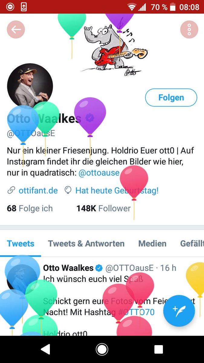 """Otto Waalkes On Twitter """"Hallo Freundeee Morgen Isses Soweit 70"""