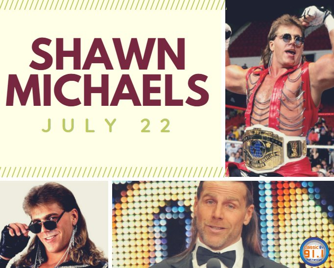 Happy birthday to professional wrestler and actor, Shawn Michaels