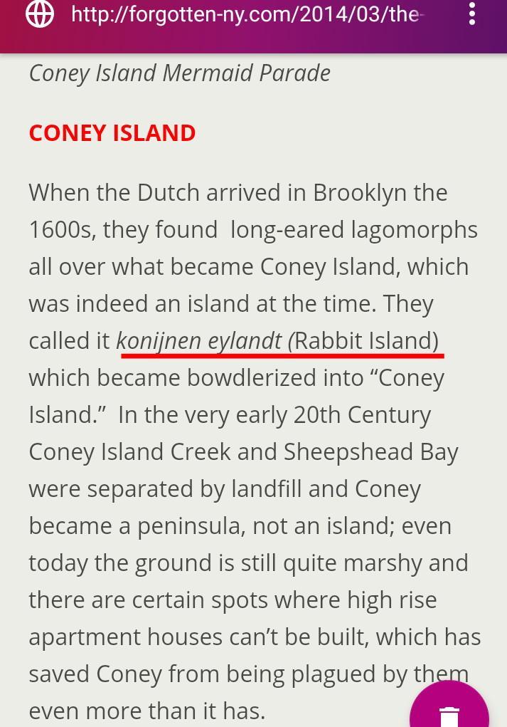 ConeyIsland was called #Rabbit  Island  #God #Jesus #Hebrew