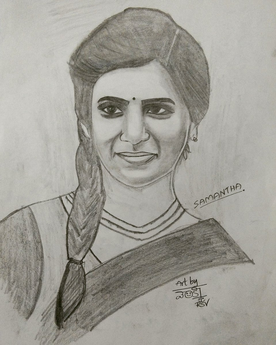 Venky Rajasamvi On Twitter My Pencil Art Samantha
